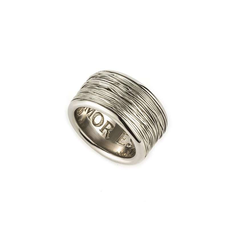 18k White Gold 12mm Dress Ring